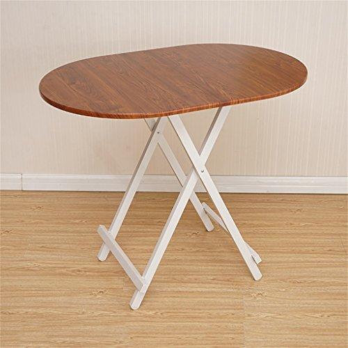Brown Ovalen Esstisch (Klapptisch Esstisch Computertisch Portable einfach Ovaler Tisch Klapptisch, Küche und Esstisch, Büro, Kinder, Kindertisch (Farbe : Brown))