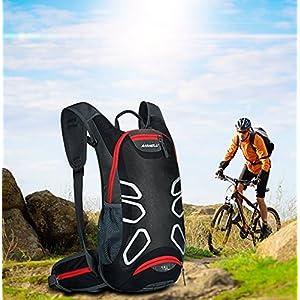 15L mochila ciclismo - Anti-grieta hombro antideslizante transpirable bolsa mochila iParaAiluRy