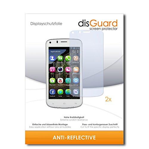 disGuard® Displayschutzfolie [Anti-Reflex] kompatibel mit Gionee Pioneer P3 [2 Stück] Entspiegelnd, Matt, Antireflektierend, Extrem Kratzfest, Anti-Fingerabdruck - Panzerglas Folie, Schutzfolie