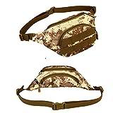 CaseJCNKF Männer Durable Nylon Hüfttasche Militär Reise Schulter Messenger Bag Desert Digita