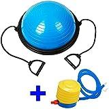 Bosu balance trainer ball pelota de Gimnasia Pilates 60 cm con inflador azul