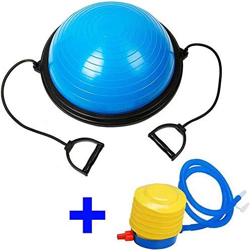 Ociodual Bosu Balance Trainer Ball Pelota de Gimnasia Pilates 60 cm con inflador Azul