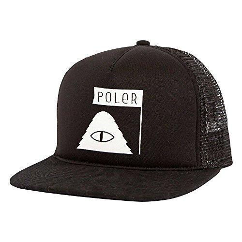 Männer Patagonia-trucker-hüte Für (POLER Cap Summit Mesh Trucker Kappe, Black, One Size)