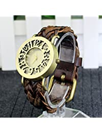 Vintage watch Korean Leather Bracelet antique leather watch wholesale hollow retro aliexpress selling EBAY