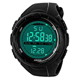 Herren Sport Digital Armbanduhr, 5 Bars Wasserdicht Military Digital Uhren mit Wecker/Timer/Sig, schwarz großes Gesicht Outdoor Sportuhr LED Armbanduhr für Männer Jungen von BHGWR