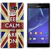 gada - Sony Xperia M2 S50H -TPU funda de protección en un diseño elegante - Keep Calm And Carry On