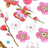 salle de bains fleur papillon Stickers muraux Stickers amovible Peach mur Sticker papier-peint devis chambre décoration affiche (pêche rouge)...