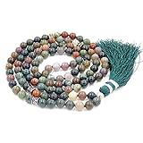 Mala Budista, Gema Mala Beads Collar/Pulsera, Buddist Mala Collar/Pulsera, Anudado...