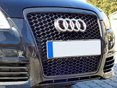 Preisvergleich Produktbild Waben- Gitter- Kühler- Sport- Front- Rippen- Grill ohne Emblem Schwarz TÜV FREI