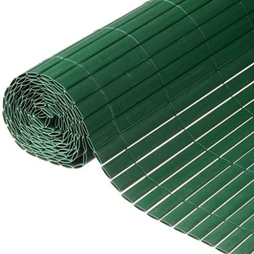 Canisse en PVC vert double face avec fixations H1,2xL3m