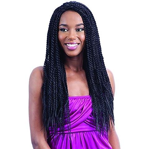 FreeTress Equal FUTURA Braid Lace Front Wig - HOT SINGLE TWIST (1B - OFF BLACK) by FREETRESS EQUAL