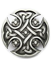 eeddoo Cinturón Hebilla–Diseño Cruz Celta (Buckle para cambio Cinturón para hombre y mujer)