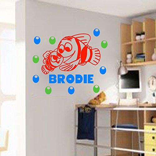 finding-nemo-wall-sticker-personalized-name-decal-fish-aquarium-wall-art-vinyl-kids-room-decor