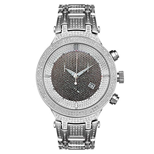 Joe Rodeo Diamant Homme Montre - MASTER argent 4.75 ctw