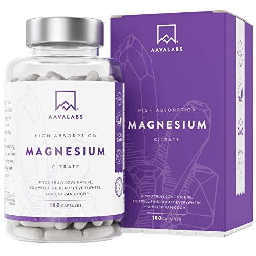 Suplemento de citrato de magnesio [ 400 mg ] de Aava Labs - Para