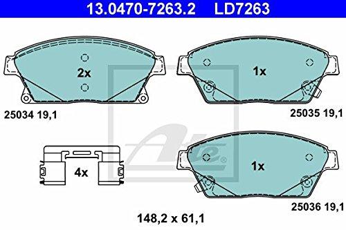 Preisvergleich Produktbild ATE 13.0470-7263.2 Bremsbelagsatz, Scheibenbremse