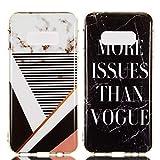 """YKTO Custodia Samsung Galaxy S10e 5.8"""" Marmo Colorate Effetto Cover Ultra Sottile Morbida Silicone Case Brillantini [2 Pack] Belle Anti Scivolo Antiurto Colore Caso Posteriore Testo"""