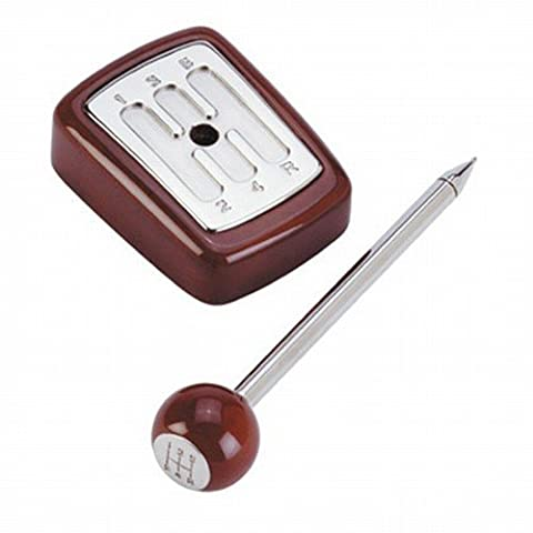 Car Gearstick Desk Pen Set with wooden gear
