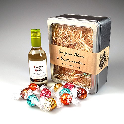The White Sauvignon Blanc Wine & Lindt Selection - Perfect Mother's Day, Birthday, Present For Sister, Graduation Gift! - By Moreton Gifts!