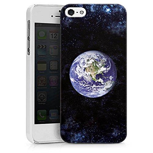 Apple iPhone X Silikon Hülle Case Schutzhülle Erde Earth World Hard Case weiß