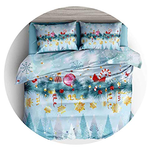 New Outpost 3D Christmas Print Bettwäsche Bettbezug-Set Kissen- Tröster Bettwäsche-Sets für Heimtextilien Bettwäsche Bettwäsche, 3,140x210cm -