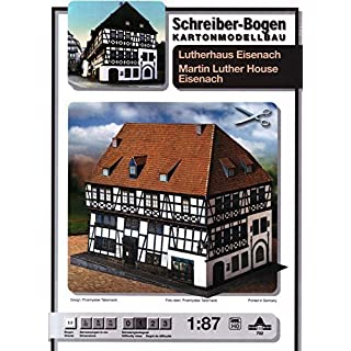 Aue-Verlag 22 x 16 x 16 cm Martin Luther House Eisenach Model Kit