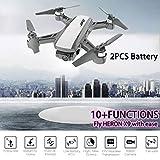 TianranRT Drone Uav,Jj-Rc Heron X9 Gps 5G Wifi 1080P Hd Caméra Fpv Avion Quadcopter Drone + Sac Nouveau Frais Créatif,Blanc
