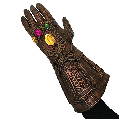 Avengers Alliance 3 Kosmische Maske Cos Halloween Filme Iron Man Sanos Latex Eliminator Infinity Handschuhe,C-OneSize