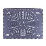 webake 50 x 40cm Silikon Backmatte Teigmatte Ausrollmatte Backmatte für Teigrollen Arbeitsmatte für Fondant - Grau
