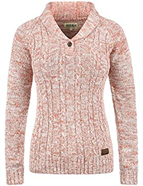 Desires Philis Jersey De Punto Suéter Sudadera De Punto Grueso para Mujer con Cuello Esmoquin De 100% algodón