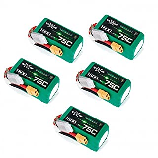 ACEHE 5X 4S 14.8v 75-150C 1500mah Lipo Battery Multibuy Bundle
