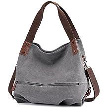a9e358925ffe7 bainuote Canvas Tasche Damen Umhängetaschen Handtasche Vintage  Schultertasche Shopper Taschen Damen Henkeltasche Hobo Tasche für Mädchen