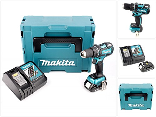 Preisvergleich Produktbild Makita DDF 480 Y1J-D 18 V Brushless Akku Bohrschrauber im Makpac mit 1 x 1,5 Ah Akku + Lader