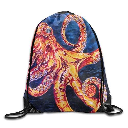 Etryrt Prämie Turnbeutel/Sportbeutel, Ocean Sealife Unisex Outdoor Gym Sack Bag Sport Drawstring Backpack Bag for Men Women