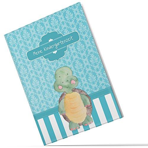 Sammelmappe Meine Kindergartenzeit niedliche Schildkröte Geschenkidee Kindergeburtstag (20 Hüllen/40 Seiten A4)