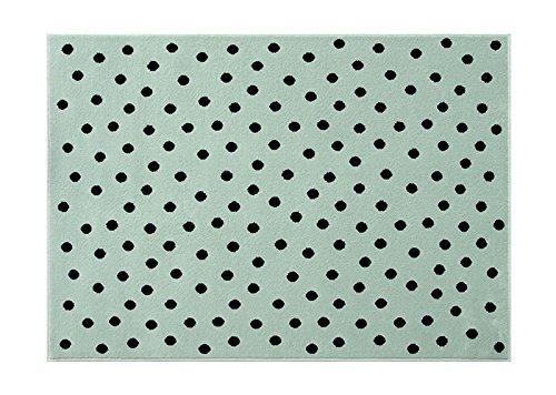 Lorena Canals. Alfombra de Lunares, acrílico, Verde/Negro, 120x 160x 30cm