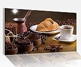 Acrylglasbilder 80x50cm Kaffee Coffee Frühstück Küche Acryl Acrylbild Acrylglas Wand Bild 14?8001, Acrylglas Größe4:80cmx50cm