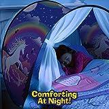 Maître de famille - Europe Tiendas de ensueño, Dream Tents, fantasía interior de la cama redes de regalo, Children Play Cama Tienda de Campaña(Unicornio)