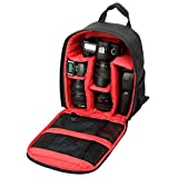 TOOGOO(R) Hot-sale Camera Backpacks Gifts High Quality Camera Bag Gifts Camera Backpack Bag Waterproof DSLR Case for Canon£¨Red£©
