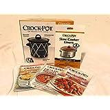 Crock-Pot Crock Pot Starter Gift Set 4 Quart Crock Pot Slow Cooker 6 Crock Pot Liners And 3 Quick Recipe Idea Cookbooks