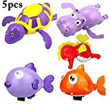 Joyibay 5PCS Baby Bad Spielzeug Nette Wind Herauf Tier Baby Dusche Spielzeug Badewanne Spielzeug