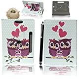 7'' Universal Tablet Hülle - Mobile Stuff Ultra Slim PU Leder Flip Cover Schutzhülle für tablet PC Painted Case Lederhülle Ledertasche Etui Hülle Tasche Schale mit Ständer Function + Stylus (Universal Hülle für 7 Zoll, Family Owl Book) Lenovo Tab 2 A7-10 7 Zoll Tablet Pc, Huawei Mediapad X2, Odys Rapid 7 LTE 7 Zoll Tablet-PC, Asus Nexus 7, Alldaymall A88X 7 Zoll Tablet PC, Dragon Touch Y88X Plus 7 Zoll Tablet PC, iRULU eXpro 1 Tablet PC (X1),XIDO X70 7 Zoll Tablet-Pc