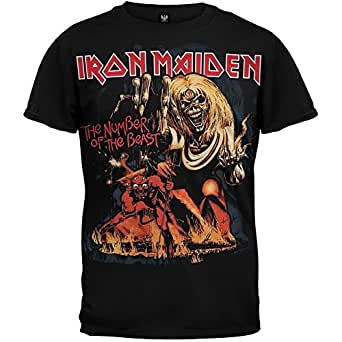 Iron Maiden - Mens Number Of The Beast T-shirt - X-Large Black
