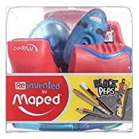 Maped Black Peps Sharpener - 9 Pieces,Multi Color
