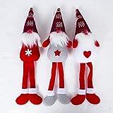 lailongp Weihnachtsbaum Hängende Ornamente, Kinder Weihnachten Weihnachtsmann Gesichtslose Puppe Spielzeug, Heimtextilien (grau)