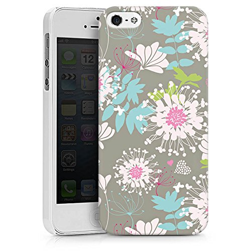 Apple iPhone X Silikon Hülle Case Schutzhülle Blumen Dekor Oldschool Hard Case weiß