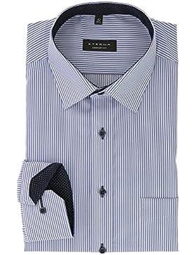 ETERNA Herren Langarm Hemd aus 100% Baumwolle Comfort Fit mit Kent Kragen bequem geschnitten Gr. 42 Twill Hellblau...