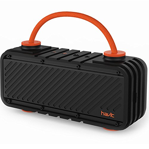 HAVIT Bluetooth Lautsprecher Wasserdicht Drahtlose Wireless Speaker mit 20W Dual-Treiber Reinem Bass, 20 Stunden Spielzeit, 10 Meter Reichweite, IPX5 Wasserdicht Outdoor Lautsprecher mit DIY-Griff, Kabellose Box für Outdoor Sport Biwakieren ( M22 )