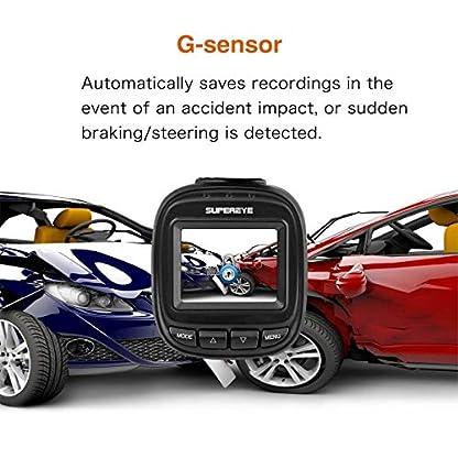 Dashcam-Autokamera-Full-HD-1080P-Dash-Camera-Auto-SuperEye-DVR-Recorder-mit-170-Weitwinkelobjektiv-Bewegungserkennung-WDR-Parkmonitor-G-Sensor-Nachtsicht-mit-Infrarot