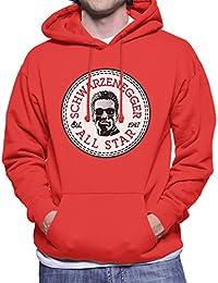 Arnold Schwarzenegger All Star Converse Logo Men's Hooded Sweatshirt